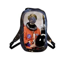 #SpacedOut by #FlowersForAldrin, #NASA, #Space, #Apollo, #outerspace, #Spaceship, #USA, #OrangeIsTheNewBlack, #alloverprint, #backpack, #CitrusReport
