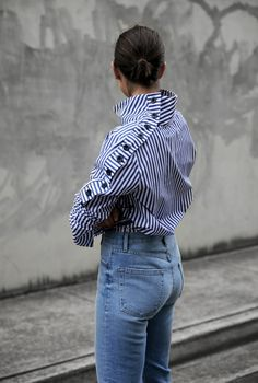 Strateas Carlucci | Stripes and Denim | Style | Outfit | HarperandHarley