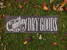 Dry Goods Grocery Sign Farmhouse Wire Sign by WordforWordchalkart