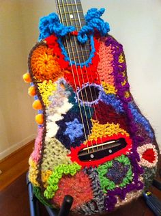 Ravelry: MsSunflwr's Guitar  Freeform Yarn bomb by Donna Rutledge
