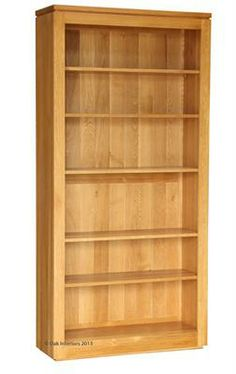 Solid oak bookcase.