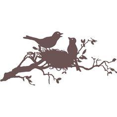 Silhouette Design Store - View Design #13049: birds in nest