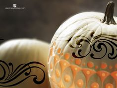 Check out these beautifully painted pumpkins from American Greetings