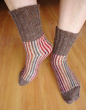 Ravelry: martassm's Sideways Striped Socks