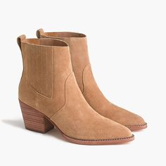 Shop J.Crew for the Western boots in tan suede for Women. Find the best selection of Women Clothing available in-stores and online. Tan Leather Boots, Tan Boots, Cool Boots, Ankle Boots, High Heel Cowboy Boots, Twisted X Boots, A 17, Western Boots, Fashion Shoes