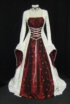 Renaissance Medieval Wedding dress handfasting 2 - 30 | eBay