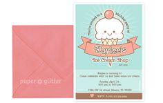 Ice Cream Party Invitation Ice Cream Party Parlor Parlour Printable - Dessert party invitation template