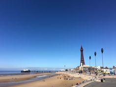 Blackpool seafront, beach, promenade and Tower
