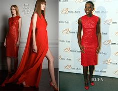 still ruling the red carpet...Lupita Nyong'o in Elie Saab - 12 Years a Slave Paris Premiere