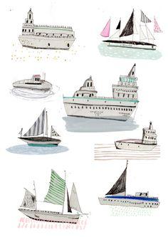 AMYISLA MCCOMBIE - Sailing Ships http://www.etsy.com/shop/Amyislaillustration