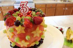 Watermelon Birthday Cake Watermelon birthday cakes Watermelon