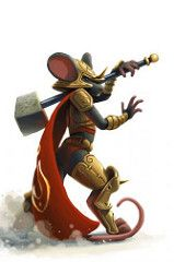Redwall fantasy inspiration  Flame Warrior Mouse (^Sandra^) Tags: game art mouse play arte raton mice juego mousehunt