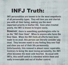 INFJ door slam Seriously, so interesting reading about my personality type and feeling all the feels. I love understanding myself better. Infj Traits, Intj And Infj, Infj Mbti, Infj Type, Enfj, Extroverted Introvert, Personalidad Infj, Infj Door Slam, Infj Personality