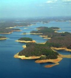 lake lanier, georgia, we lived in Flowery Branch.  when i was a kid we would go camping on the lake.