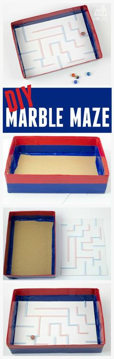 DIY marble maze.  Make this fab marble maze for the kids.  It is so simple to make, but provides hours of entertainment.