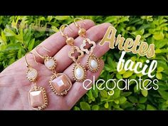 Aretes faciles y elegantes - Ivy Ottos bisuteria y alambrismo - YouTube Wire Jewelry, Jewelry Art, Jewelry Design, Jewlery, Beaded Earrings, Silver Earrings, Wire Wrapping, Ivy, Diy And Crafts