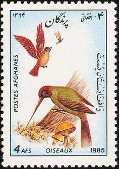Stamp: European Green Woodpecker (Picus viridis) (Afghanistan) (Birds) Mi:AF 1446,Sn:AF 1159,Yt:AF 1222