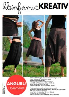 Image of kleinformat kreativ ANGURU Hose Schnitt/ pants pattern (engl. version incl.)