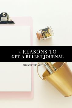Do you want to be more producitive and organized? Do you have a bullet journal yet? Here are 5 reasons why you should get one today!