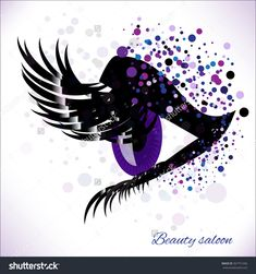 Vector Eye With Make Up And Long Lashes On White Background. False Lashes For…
