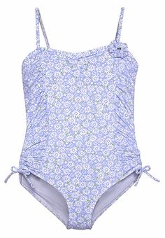 girls blue darling daisies one piece swimsuit・kate mack