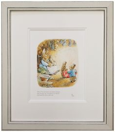 'When Peter Got Home His Mother Forgave Him' by Beatrix Potter. Framed by Art of Framing, Nantwich