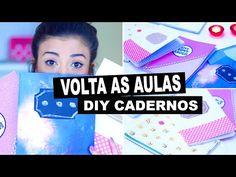 Volta as Aulas | DIY Cadernos Personalizados - YouTube