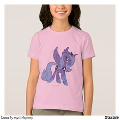 Luna T-Shirt. Cute My Little Pony merchandise to personalize. #mylittlepony #mlp #giftideas #kids #birthday #personalize #shopping