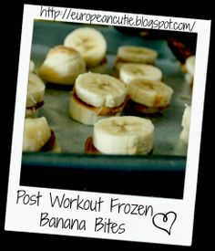 Healthy Post Workout Frozen Banana Bites  on MyRecipeMagic.com