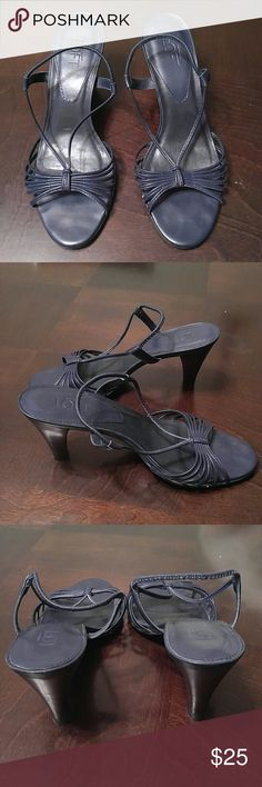 Ann Taylor Loft Navy Blue Sandals Excellent condition. Ladies Size 7M Navy Blue. Comes from smoke-free home. Ann Taylor Shoes Sandals