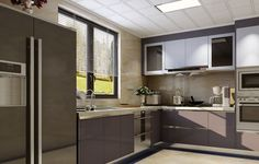 White cabinetry contrasts beautifully against the dark grey tiles Stainless Steel Kitchen Cabinets, Grey Tiles, Portfolio Design, Double Vanity, Dark Grey, Home Decor, Portfolio Design Layouts, Gray Tiles, Decoration Home