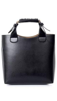 sleek black tote