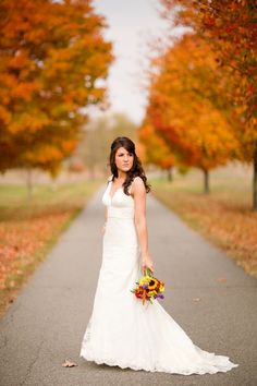 Fall color wedding. If only they had this setting in California.