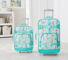 Aqua Mermaid Luggage | Pottery Barn Kids l Cute Kid Luggage l…