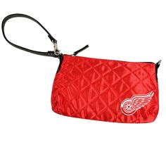 Detroit Red Wings NHL Quilted Wristlet (Light Red)