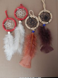 Two Pack Mini Dreamcatchers by WolfWitchCreations on Etsy