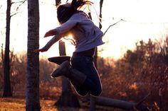 Happy autumn (jump, fall, yay, hapiness, seasons)