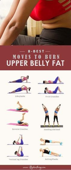 Belly Fat Workout - 8 Best Moves to Burn Upper Belly Fat. Do This One Unusual 10-Minute Trick Before Work To Melt Away 15+ Pounds of Belly Fat