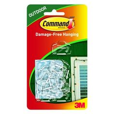 Command Outdoor Light Clips, Foam Strip, Clear, 16-Pk.: Model# 17017CLR-AW | True Value