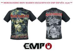 #ironmaiden Merchandise Oficial en #empspain la mayor tienda online de Europa de Merchandising oficial de bandas de #Metal, #HardRock , #Heavy, Ropa #Gótica , #Punk y todo lo que te hace falta para vivir el Rockstyle en toda su dimensión.