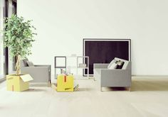 Fragile coffee table/planter, design Lana+Savettiere for mabele daily steel