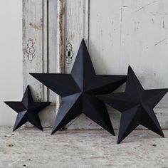 how to make 3D stars from cereal boxes. These are one-sides, but still might try them out