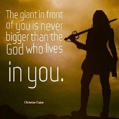 """Christine Caine: """"El gigante que está frente a ti nunca será tan grande como el Dios que vive en ti."""""""