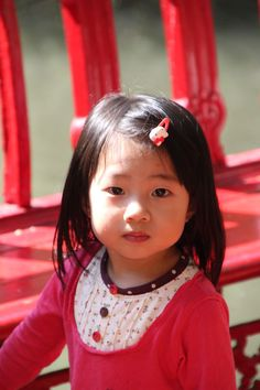 girl First Girl, Continents, Attitude, Earth, Children, People, Red, China, Color