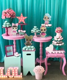The best ideas for celebrating a Lol Surprise Splash party queen party, LOl doll theme party, Lok Splash queen doll party centerpieces, like decorating a Balloon Decorations Party, Party Centerpieces, Birthday Decorations, Splash Party, 6th Birthday Parties, Baby Birthday, Birthday Ideas, Surprise Birthday, Party Queen