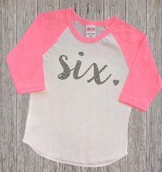 Six Year Old Birthday Shirt | Sixth Birthday Girl Shirt | 6 Year Birthday Shirt | 6th Birthday Shirt | Birthday Girl Outfit | Raglan Shirt