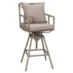 Found it at Wayfair - Ablert Adjustable Height Bar Stool with Cushions