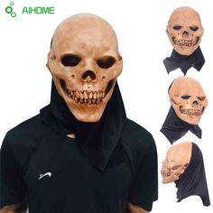 Horrifying Adult Latex Skull Full Head Breathable Mask Halloween 2017 2c063d834bb0