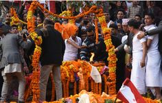 Koirala were consigned to flames with full state honours at Pashupati Aryaghat(photo feature)