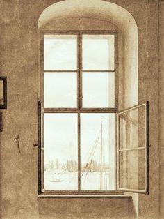 Caspar David Friedrich - Blick aus dem Atelier